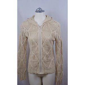 Cabi By The Sea Zip Up Hooded Cardigan sweater